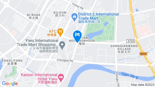 Sanding New Century Grand Hotel Yiwu Map