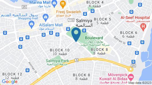 Magic Suite Boulevard Salmiya Map