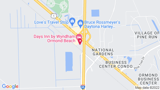 Extended Stay - Ormond Beach Map