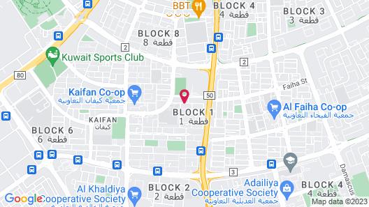 Four Seasons Hotel Kuwait at Burj Alshaya Map