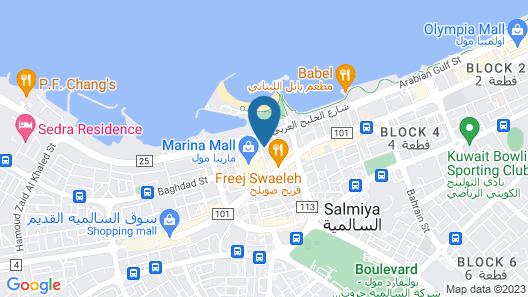Corniche Hotel & Suites Map