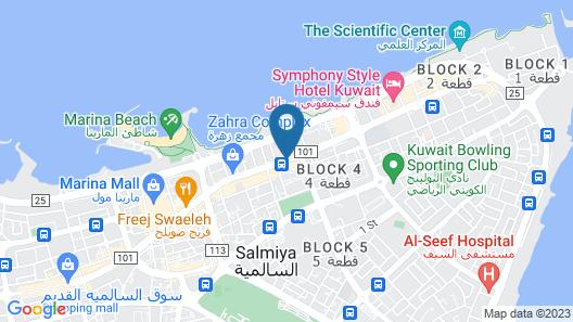 ibis Kuwait Salmiya Map