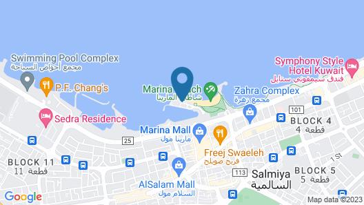 Marina Hotel Kuwait Map