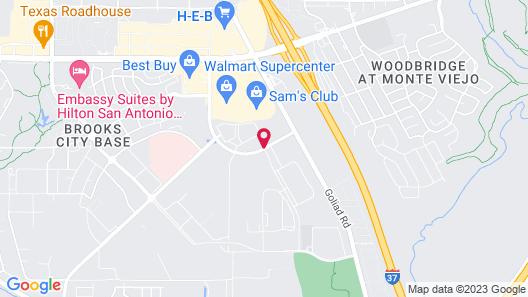 Hampton Inn & Suites San Antonio Brooks City Base Map