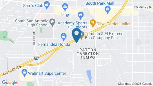 WoodSpring Suites San Antonio South Map