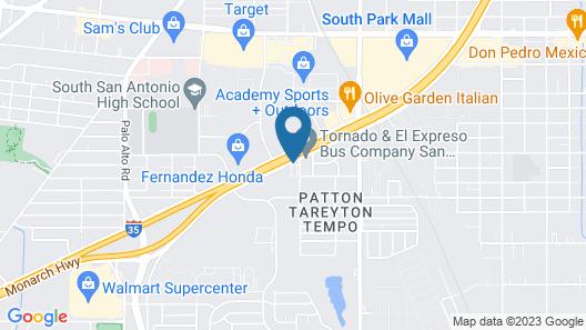 Motel 6 San Antonio, TX - South Map