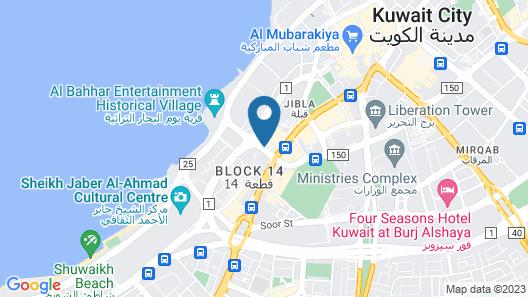 Carlton Tower Hotel Kuwait Map