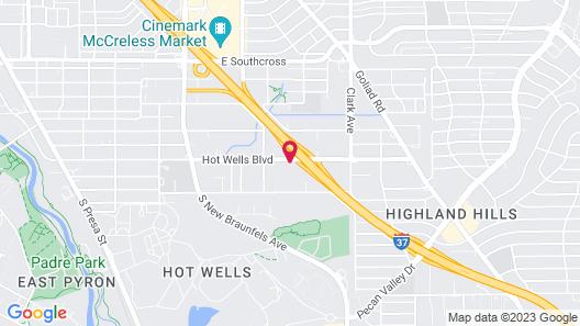 Motel 6 San Antonio, TX - Downtown - Alamo Dome Map