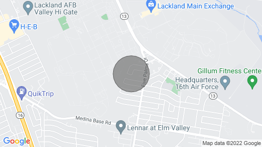 A Space to Connect 4 Minutes From Lackland AFB Map