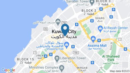 Oasis Hotel Kuwait Map
