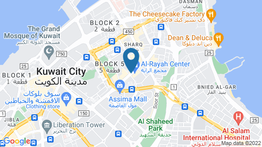 Al Hamra Hotel Kuwait - Families and Couples Only Map