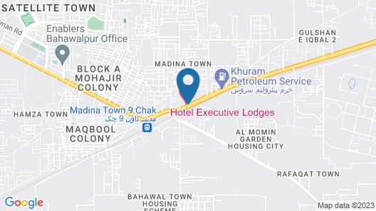 Hotel Executive Lodges Map