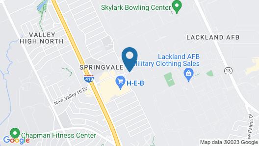 OYO Hotel San Antonio Lackland Air Force Base West Map