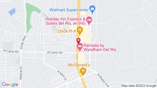 Motel 6 Del Rio, TX Map