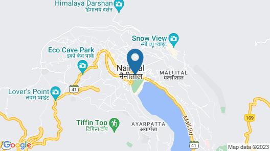 Goroomgo Radha Continental Nainital Map