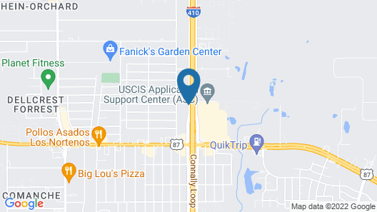 Holiday Inn Express & Suites San Antonio SE By At&t Center, an IHG Hotel Map
