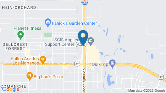 Holiday Inn Express & Suites San Antonio SE By At&t Center Map