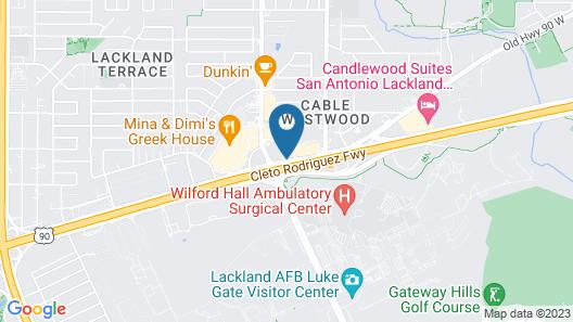 Motel 6 San Antonio, TX - Near Lackland AFB Map
