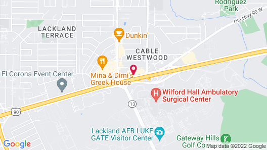 Studio 6 San Antonio, TX - Lackland AFB Map