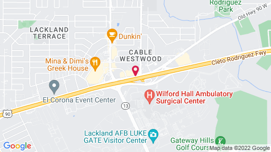 Deluxe Inn San Antonio/Near Lackland AFB Map