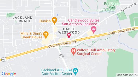 Americas Best Value Inn San Antonio Lackland AFB Map
