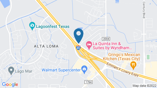 WoodSpring Suites Texas City Map