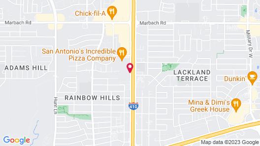 Motel 6 San Antonio, TX - West SeaWorld Map