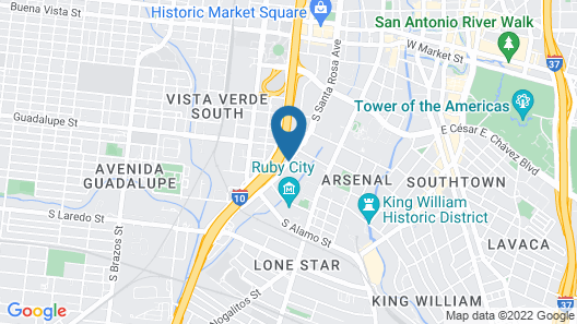 Best Western Alamo Suites Map
