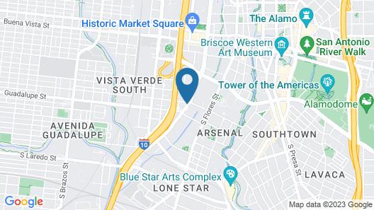 Holiday Inn Express & Suites San Antonio-Dtwn Market Area, an IHG Hotel Map