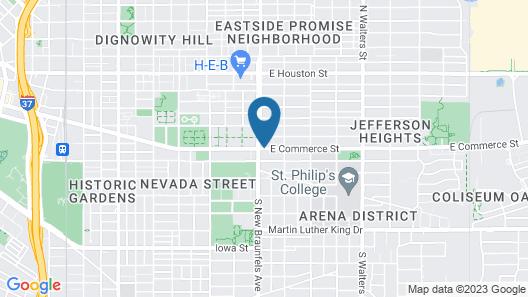 Alamo Inn & Suites Downtown Map