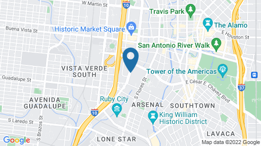 Fairfield Inn & Suites by Marriott San Antonio Market Square Map