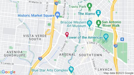 La Quinta Inn & Suites by Wyndham San Antonio Downtown Map