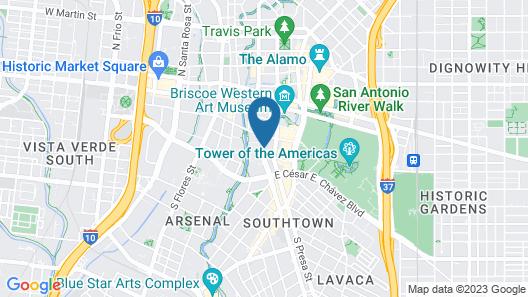 SpringHill Suites San Antonio Downtown/Riverwalk Area Map