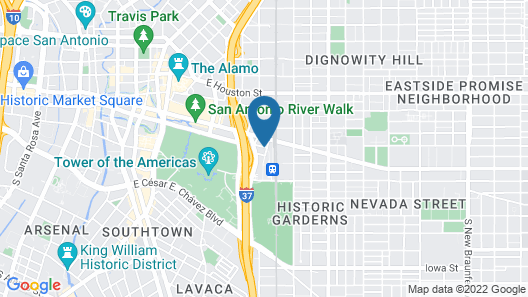 Staybridge Suites San Antonio Downtown Conv Ctr, an IHG Hotel Map
