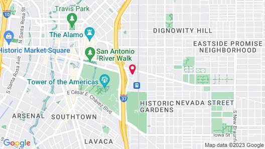 Staybridge Suites San Antonio Downtown Conv Ctr Map