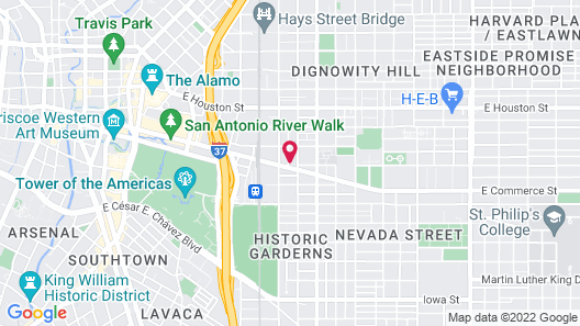 Holiday Inn Express San Antonio Rivercenter Area, an IHG Hotel Map