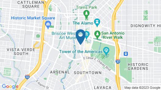 O´Brien Historic Hotel Map