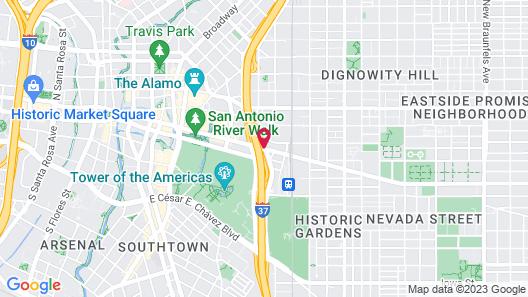Best Western Plus Sunset Suites-Riverwalk Map