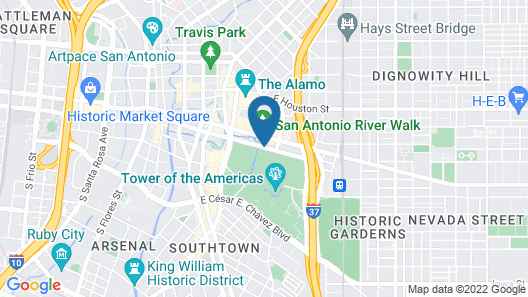 Grand Hyatt San Antonio Map