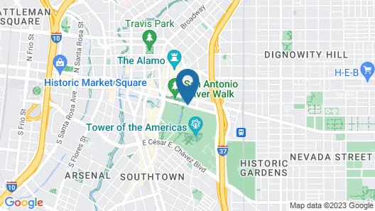 Marriott San Antonio Riverwalk Map