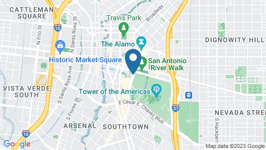 Hilton Palacio Del Rio Map