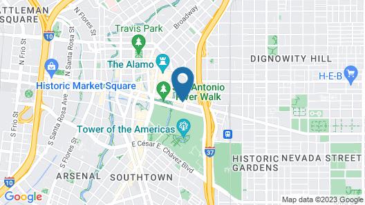 San Antonio Marriott Rivercenter Map
