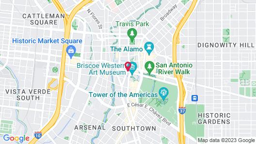 Hotel Contessa - Suites on the Riverwalk Map