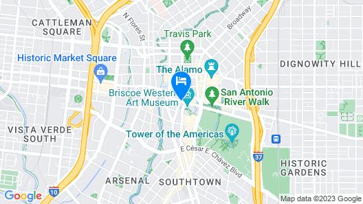 Hotel Contessa - Luxury Suites on the Riverwalk Map