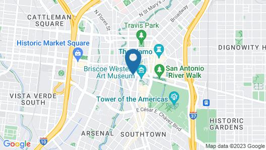 The Westin Riverwalk, San Antonio Map