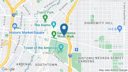 La Quinta Inn & Suites by Wyndham San Antonio Riverwalk Map