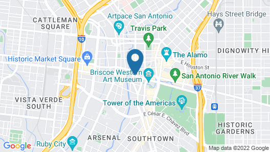 Homewood Suites by Hilton San Antonio Riverwalk/Downtown Map