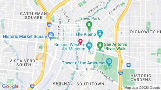 Drury Plaza Hotel San Antonio Riverwalk Map