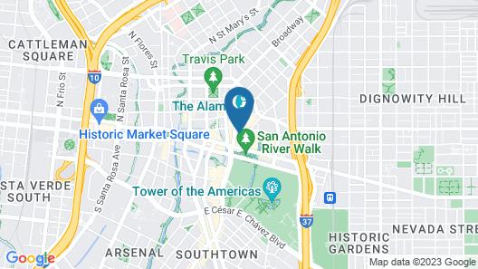Menger Hotel Map