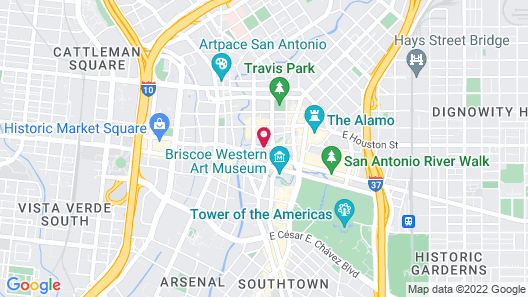 Mokara Hotel & Spa San Antonio Map